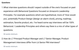 Amazon Product Interview (L7)