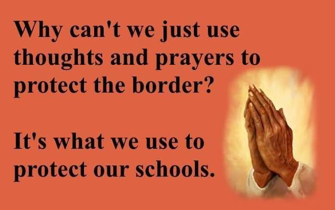 Why can't we use thoughts and prayers...