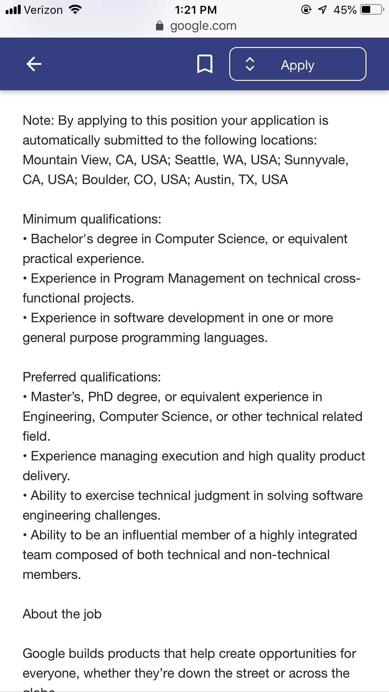 Tech Careers: 🆘TPM @ Google - what do they look for?🆘 - Blind