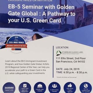 EB5 Seminar in San Francisco