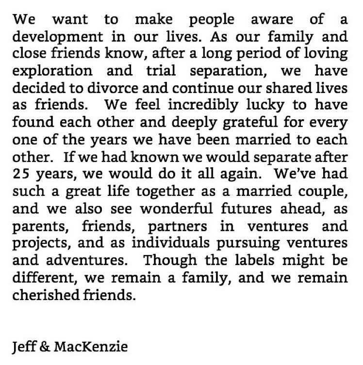 Jeff Bezos divorce 💔
