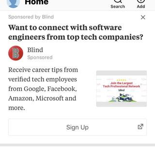 Blind ad on Quora