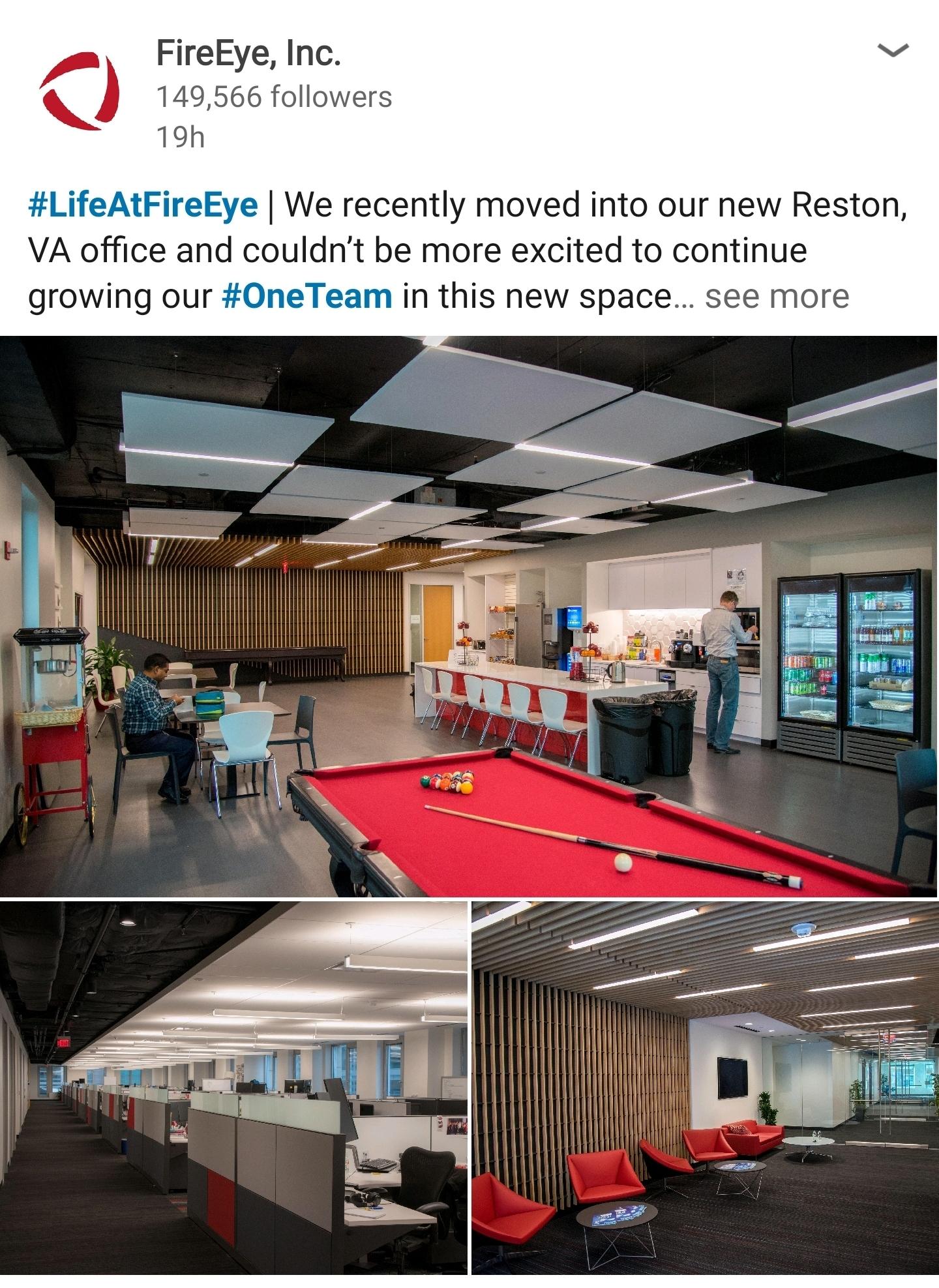 FireEye new Reston, VA office