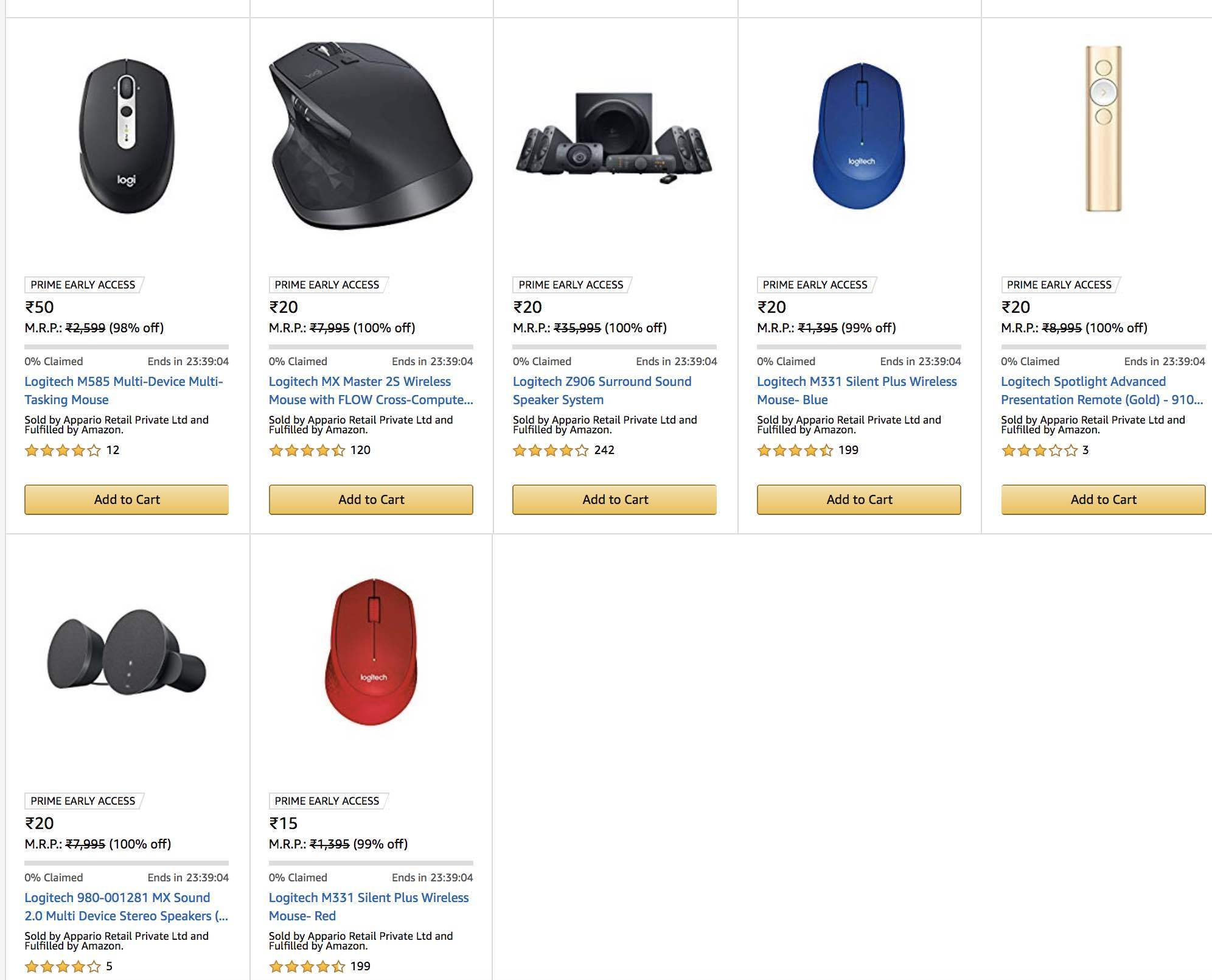Someone messed up Amazon India site pricing