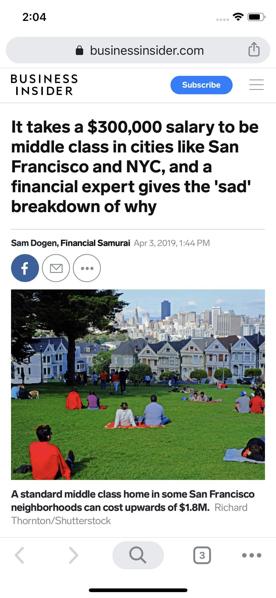 300k salary = middle class in SF/NYC