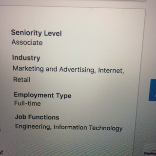 Confused about LinkedIn seniority level in job posting