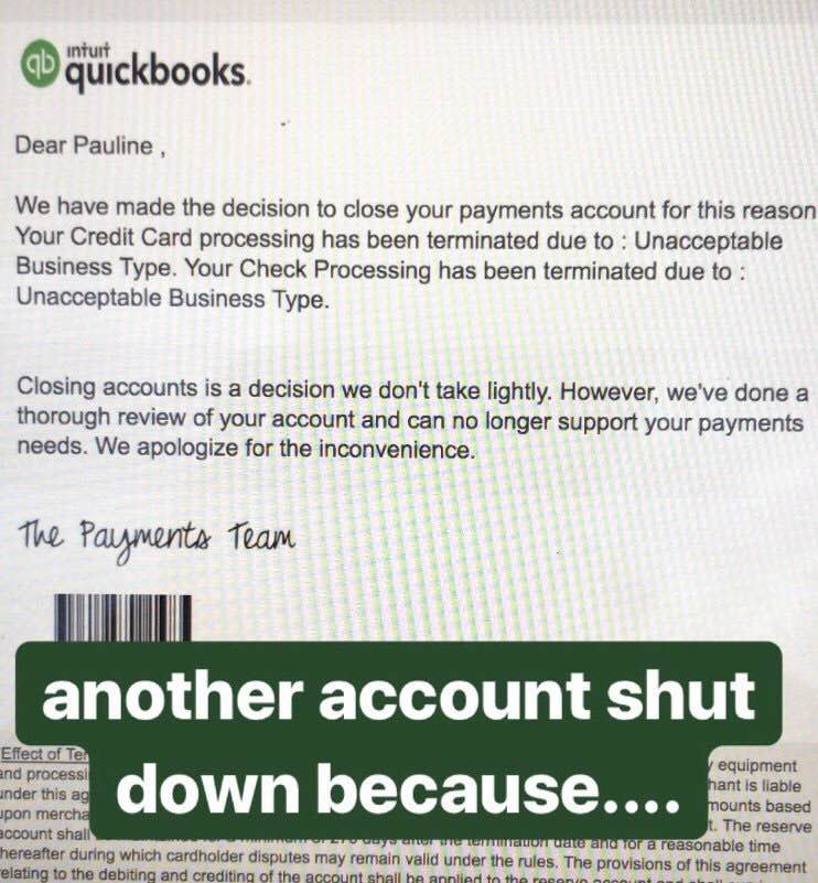 Intuit shut down business account