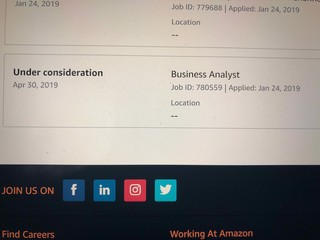 Amazon job positions greyed out?