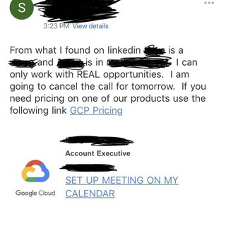 Didn't know people at Google had such big ego