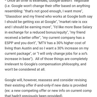 Is this true? Google doesn't negotiate??