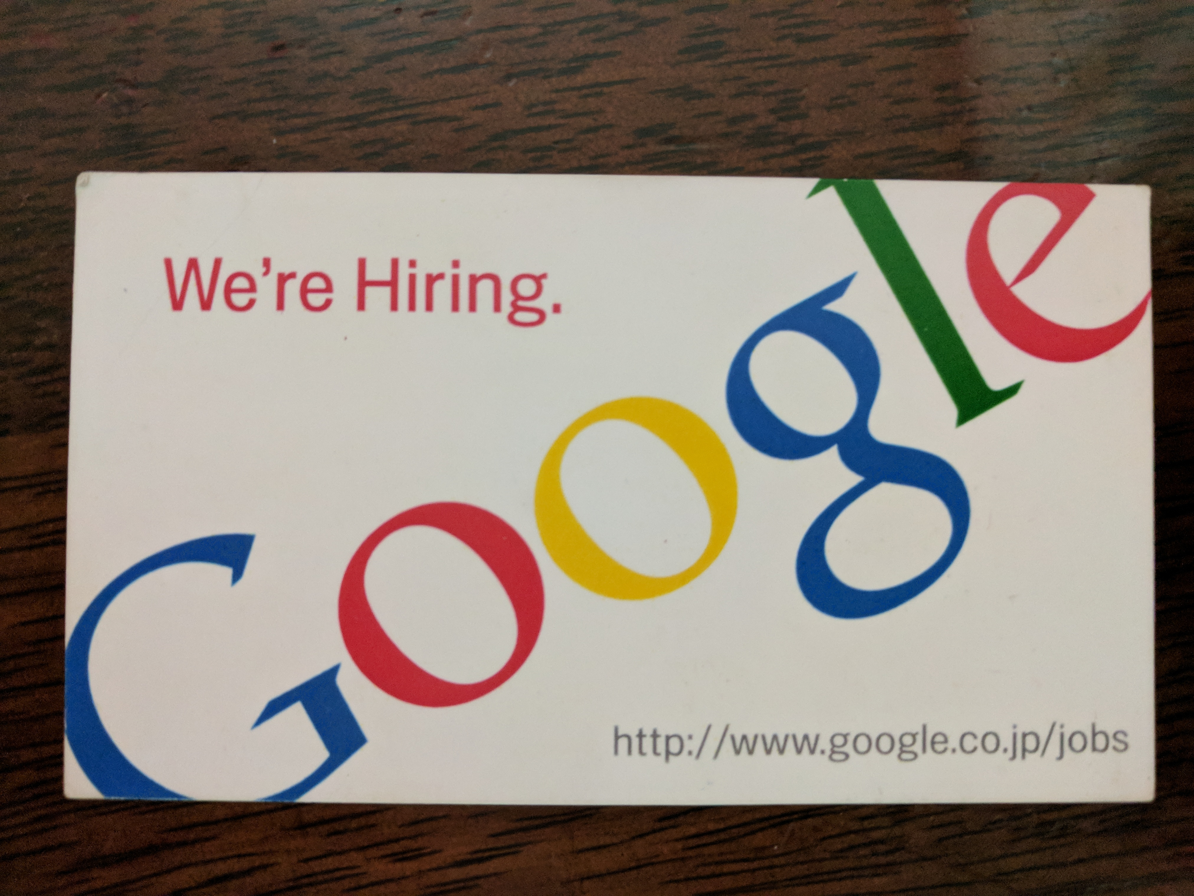 Got one of these at a Google event back in 2006...