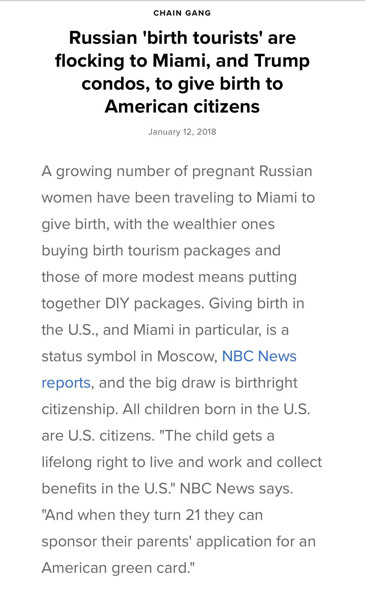 What are your thoughts on Birth Right Citizenship?