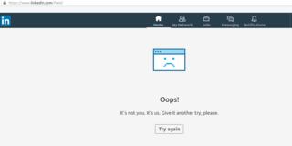 LinkedIn web app crashes often!