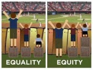What is your opinion in Equality vs Equity?