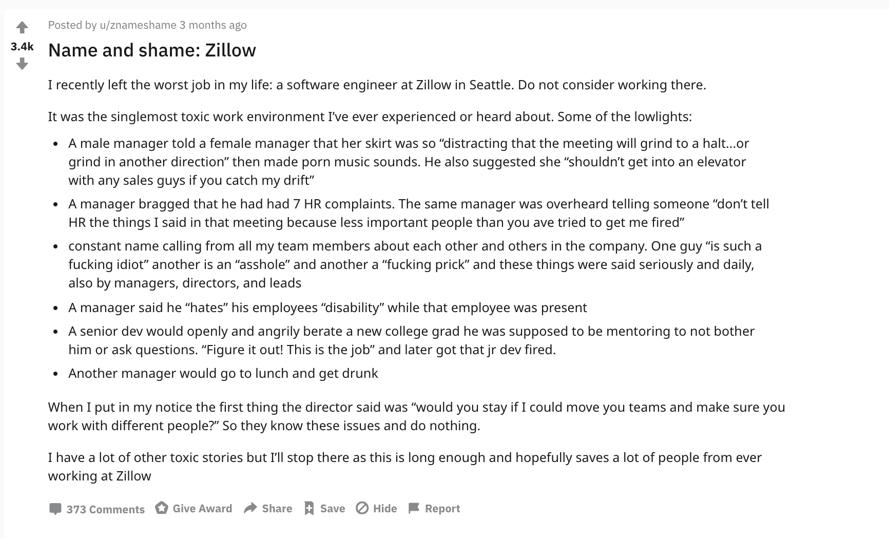 Is Zillow Such A Bad Place To Work As Described In Reddit Blind