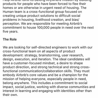 AirBnB The Human Team
