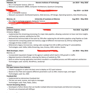 What's wrong with my resume ?? I'm rejected EVERYWHERE