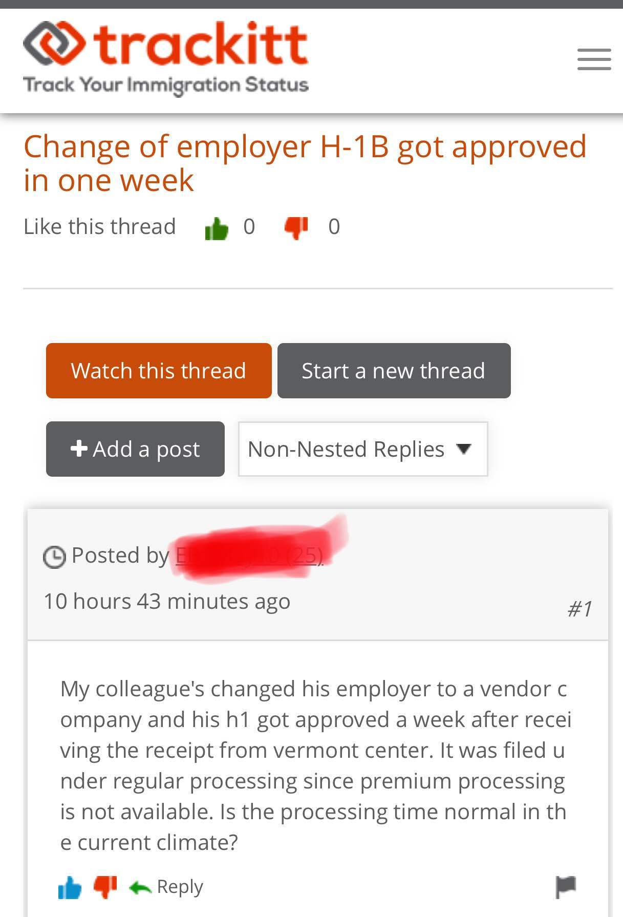 Work VISA: H1 Transfer Approved In 1 Week : Regular