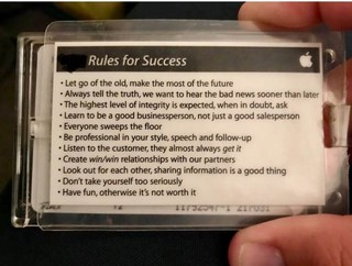 Apple Rules of Success